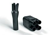 4 Core Cable Breakout Boots - Hellermann Tyton Heat Shrink 4 Core Boots
