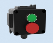 Control Stations (GRP) - Double Green & Mushroom Red Pushbuttons - Walsall LCP180