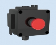 Control Station - ATEX - Emergency Stop - Red Mushroom Pushbutton (Key) - Walsall LCP127-128
