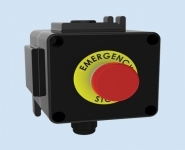 Control Station - ATEX - Emergency Stop - Red Mushroom Pushbutton (Key) - Walsall LCP132