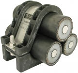 Ellis Patents COL122-146 Colossus Cable Cleats - Trefoil