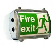Zone 1 (ATEX) Bulkhead Fluorescent Fire Exit Luminaire - Hadar HDL109 (32 Watts)