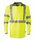 ProGARM 5285 Flame Resistant Anti-Static Hi Vis Arc Flash Yellow Polo Shirt