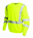 ProGARM 5625 Flame Resistant Anti-Static Hi Vis Arc Flash Yellow Sweatshirt