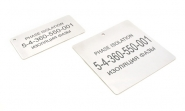 Silver Fox Stainless Steel Engraved Labels