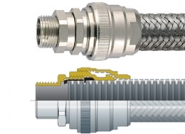 FPISS Flexicon Flexible Conduits - PA12 Corrugated Nylon, Stainless Steel 316 Overbraid Conduit