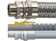 FUSSB Flexicon Flexible Conduits - Galvanised Steel Stainless Steel Overbraid Flexible Conduit