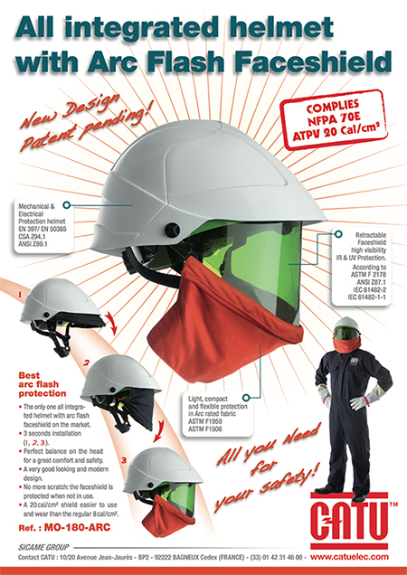 High Voltage Ppe : Catu mo arc all integrated helmet with flash face