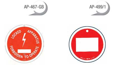 CATU Lockout / Tagout Panels & Insterts - Badge Models