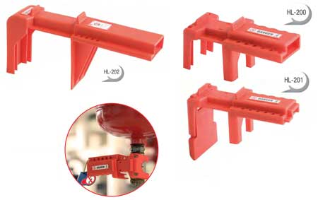 CATU Lockout / Tagout Valve Lockers - Models For 1/4 Turn Valves