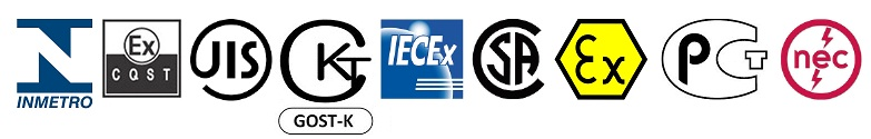 Hazardous Area Certified Electrical Equipment - ATEX IECEx GOST Inmetro NEC CSA