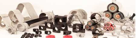 Prysmian BICON Cable Cleats - Hook, Claw, Trefoil - Aluminium & Stainless Steel Cleats