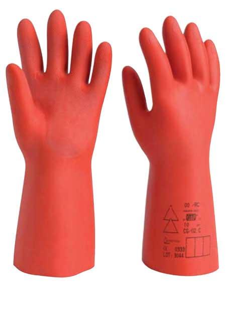 Testing High Voltage Rubber Gloves : Catu flocked composite insulating gloves