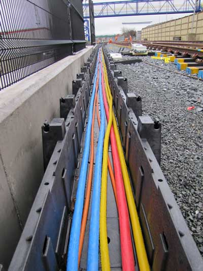 Cubis Railduct Hdpe Cable Trough Deters Trackside Cable Theft