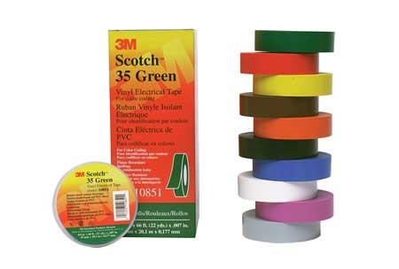 3M Scotch 35 Vinyl Electrical Colour Coding Tape