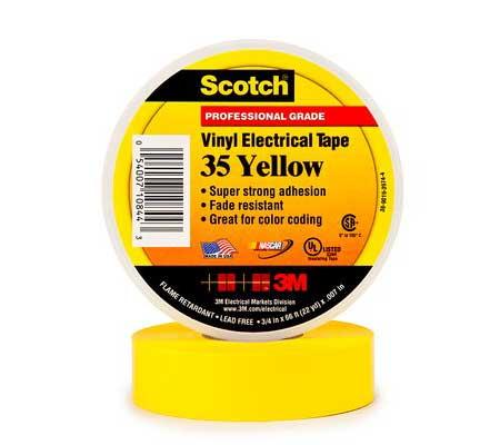 3M Scotch 35 Yellow Vinyl Electrical Tape