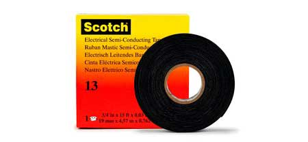 3M Scotch 13 Electrical Semi-Conducting Tape - Rubber Electrical Tape