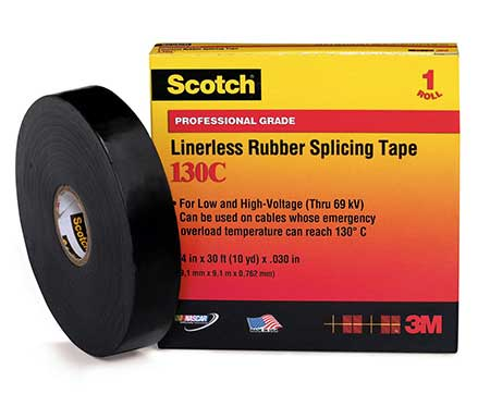 3M Scotch 130C Linerless Rubber Splicing Tape - Electrical Tape