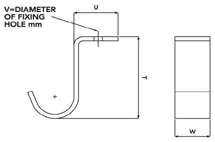 Ellis Patents SHB3 Cable Hook Dimensions