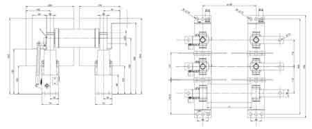 Three phases fuse base type BPS-01
