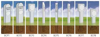 Concrete Marker Posts