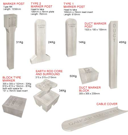 Anderton Concrete Cable Marker Posts & Cable Covers