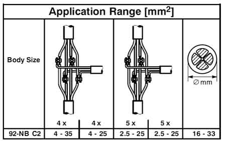 TEE JOINTS, T CABLE JOINTS, LV LOW VOLTAGE BRANCH TEE T CABLE JOINTING JOINTS, 3M SCOTCHCAST