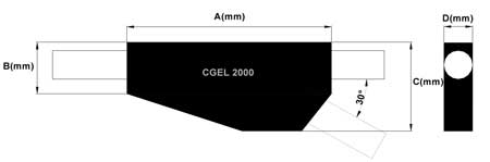 Gel Joints DSG Canusa CGEL 2000 Dimensions