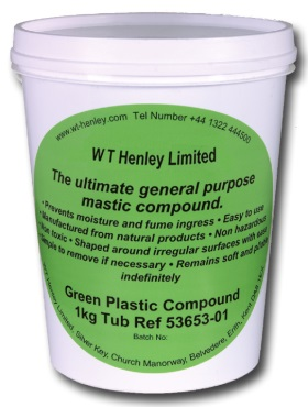 WT Henley 53653-01 Green Plastic Compound (1kg Tub)