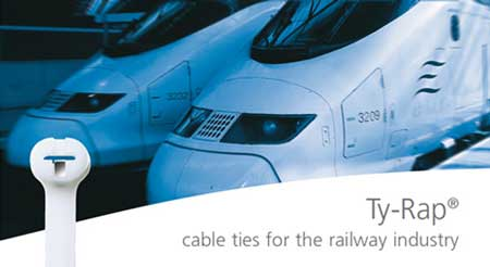 Thomas & Betts Ty-Rap Rail Cable Ties (EN45545-2 Approved)