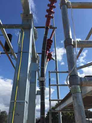 33kv Xlpe Lat Structure Mv Cable Termination Using Raychem