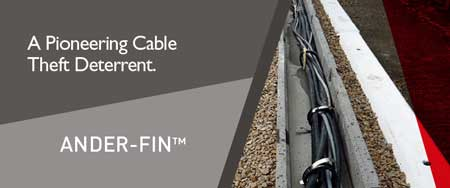 Anderton Ander-Fin  Preventing Rail Cable Theft From Cable Trough On Network Rail Infrastructure