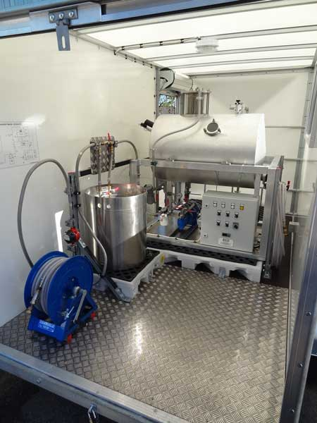 Degasifier Trailer Oil Preparation For Extra High