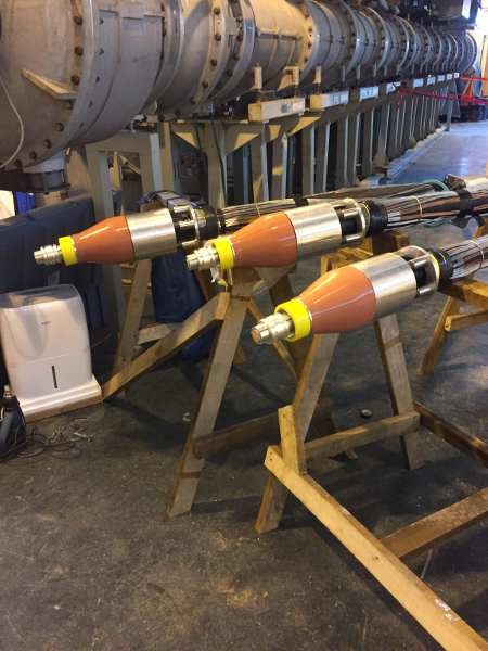 Sudkabel Plugs Terminating 132kV Lead Sheath Cables Into Gas
