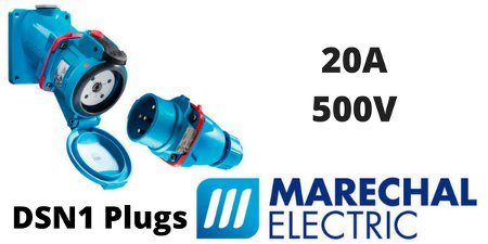 Marechal DSN1 Plugs, Sockets (Decontactors) 20Amps