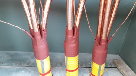 4.8kV MV Medium Voltage 500/35sqmm  6 Core Corrugated Cable Termination