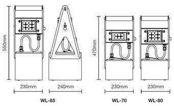 Wolf ATEX Worklite Floodlights - Product Dimensions