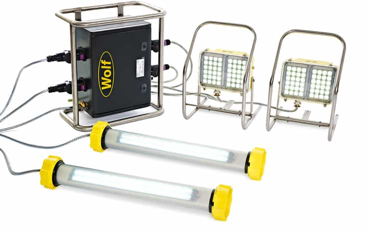 Wolf LinkEx Tank Lighting Kit ATEX � 2 x LX-400 & 2 x WF-300 Configuration