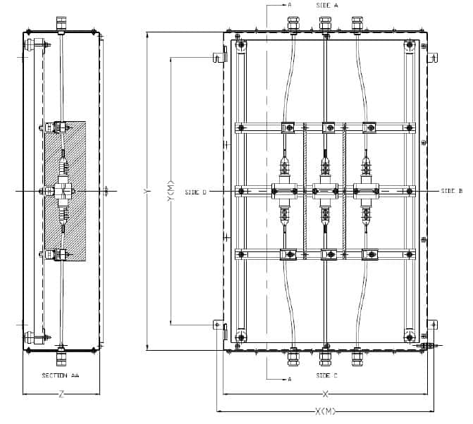 Abtech DPJB General Arrangement HV Enclosure Drawing