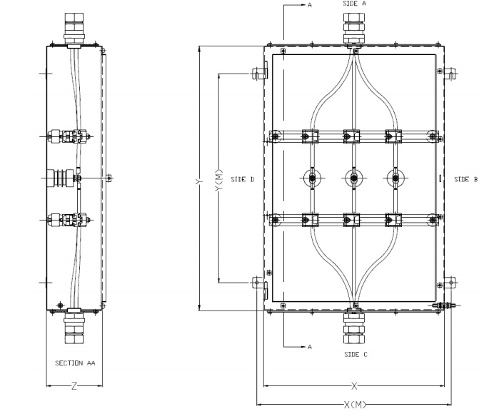 Abtech MJB General Arrangement HV Enclosure Drawing