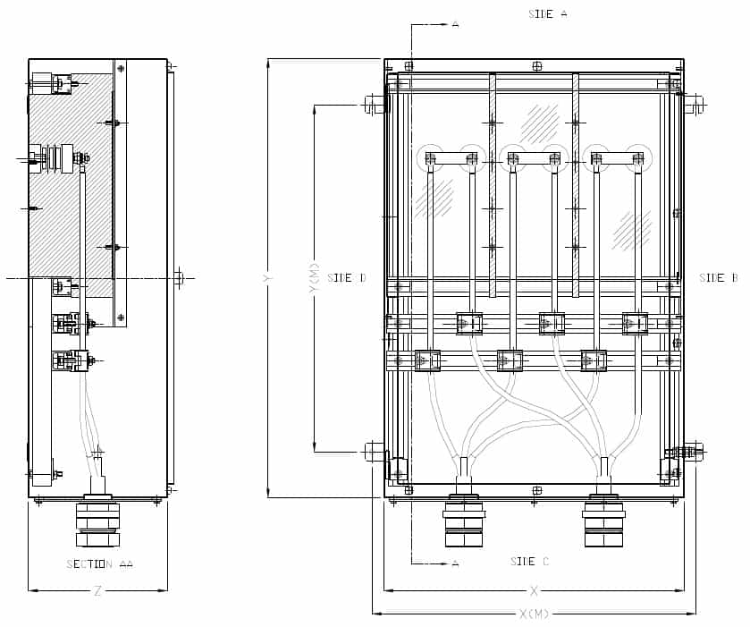 Abtech HVJB General Arrangement HV Enclosure Drawing
