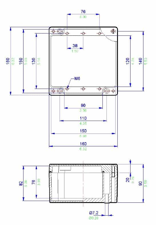 abtech zag11 aluminium electrical enclosure  u0026 junction box