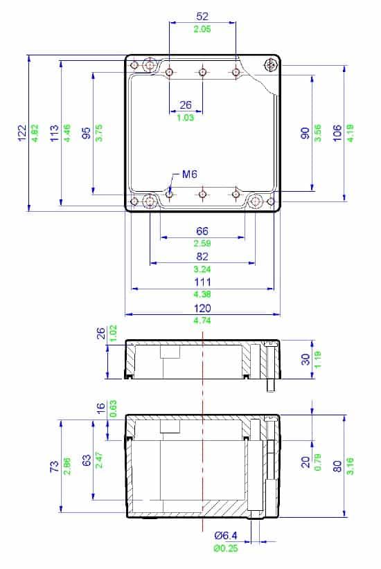 abtech zag9 aluminium electrical enclosure  u0026 junction box